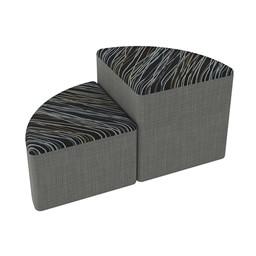 Shapes Series II Designer Soft Seating - Pie - Peppercorn/Gray