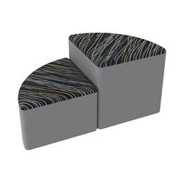Shapes Series II Designer Soft Seating - Pie - Peppercorn/Light Gray