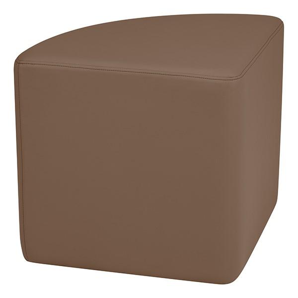 "Shapes Series II Vinyl Soft Seating - Pie (18"" High) - Chocolate Smooth Grain"