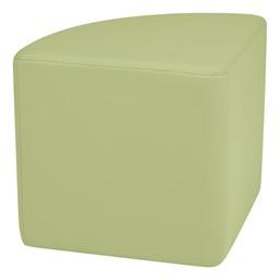"Shapes Series II Vinyl Soft Seating - Pie (18"" High) - Fern Green Smooth Grain"