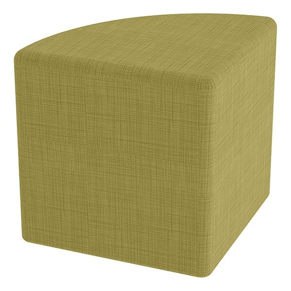 "Shapes Series II Vinyl Soft Seating - Pie (18"" High) - Green Crosshatch"