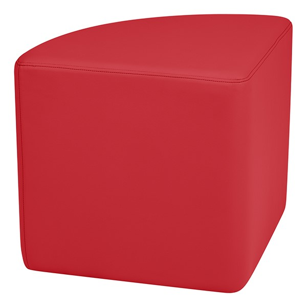 """Shapes Series II Vinyl Soft Seating - Pie (18"""" High) - Red Smooth Grain"""