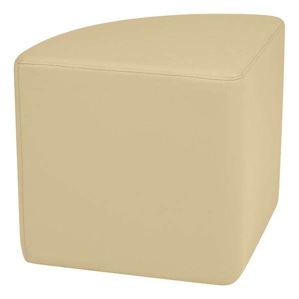 """Shapes Series II Vinyl Soft Seating - Pie (18"""" High) - Sand Smooth Grain"""