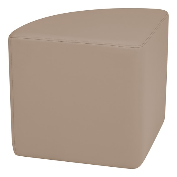 """Shapes Series II Vinyl Soft Seating - Pie (18"""" High) - Taupe Smooth Grain"""