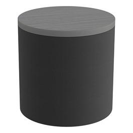 Shapes Series II Soft Seating Tabletop - Cylinder - Black Smooth Grain w/ Cosmic Strandz Tabletop