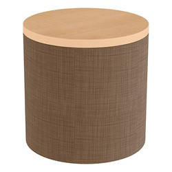 Shapes Series II Soft Seating Tabletop - Cylinder - Brown Crosshatch w/ Maple Tabletop