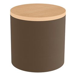 Shapes Series II Soft Seating Tabletop - Cylinder - Chocolate Smooth Grain w/ Maple Tabletop