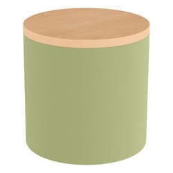 Shapes Series II Soft Seating Tabletop - Cylinder - Fern Green Smooth Grain w/ Maple Tabletop