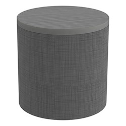 Shapes Series II Soft Seating Tabletop - Cylinder - Gray Crosshatch w/ Cosmic Strandz Smooth Grain Tabletop