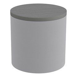 Shapes Series II Soft Seating Tabletop - Cylinder - Light Gray Smooth Grain w/ Cosmic Strandz Tabletop