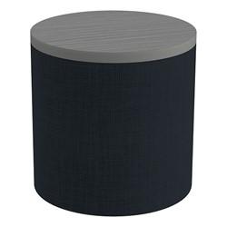 Shapes Series II Soft Seating Tabletop - Cylinder - Navy Crosshatch w/ Cosmic Strandz Tabletop