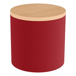 Shapes Series II Soft Seating Tabletop - Cylinder - Red Smooth Grain w/ Maple Tabletop