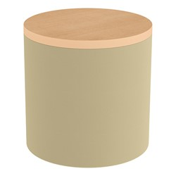 Shapes Series II Soft Seating Tabletop - Cylinder - Sand Smooth Grain w/ Maple Tabletop