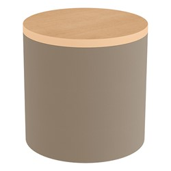 Shapes Series II Soft Seating Tabletop - Cylinder - Taupe Smooth Grain w/ Maple Tabletop