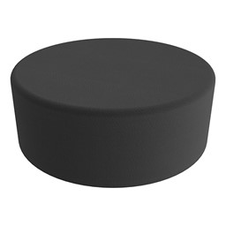"""Shapes Series II Vinyl Soft Seating - Large Round (12"""" H) - Black Smooth Grain"""