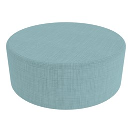 "Shapes Series II Vinyl Soft Seating - Large Round (12"" High) - Blue Crosshatch"
