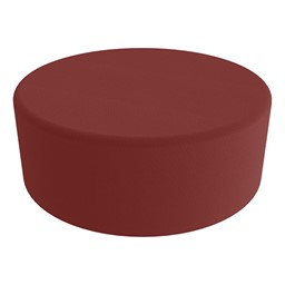 """Shapes Series II Vinyl Soft Seating - Large Round (12"""" H) - Burgundy Smooth Grain"""