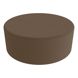 """Shapes Series II Vinyl Soft Seating - Large Round (12"""" H) - Chocolate Smooth Grain"""