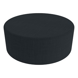 """Shapes Series II Vinyl Soft Seating - Large Round (12"""" H) - Navy Crosshatch"""