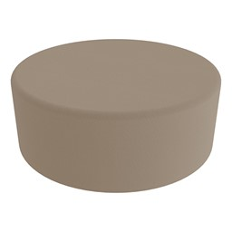 """Shapes Series II Vinyl Soft Seating - Large Round (12"""" H) - Taupe Smooth Grain"""