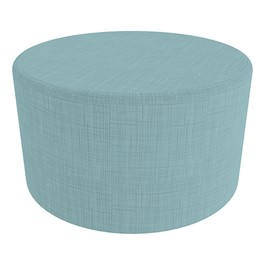 "Shapes Series II Vinyl Soft Seating - Large Round (18"" High) - Blue Crosshatch"