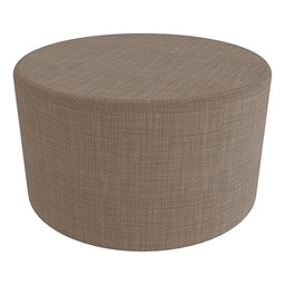"""Shapes Series II Vinyl Soft Seating - Large Round (18"""" H) - Brown Crosshatch"""