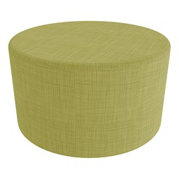 """Shapes Series II Vinyl Soft Seating - Large Round (18"""" H) - Green Crosshatch"""