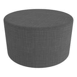 """Shapes Series II Vinyl Soft Seating - Large Round (18"""" H) - Gray Crosshatch"""