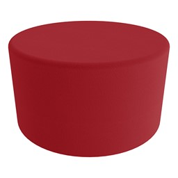 """Shapes Series II Vinyl Soft Seating - Large Round (18"""" H) - Red Smooth Grain"""