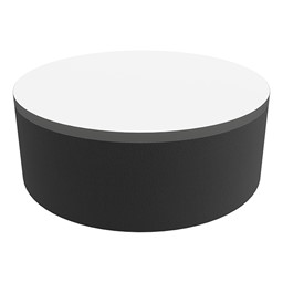 """Shapes Series II Soft Seating Tabletop - Large Round (12"""" H) - Black Smooth Grain"""