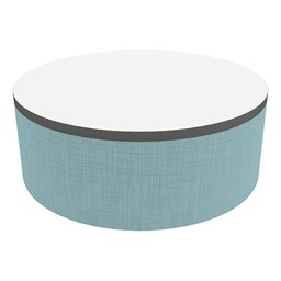"""Shapes Series II Soft Seating Tabletop - Large Round (12"""" H) - Blue Crosshatch"""