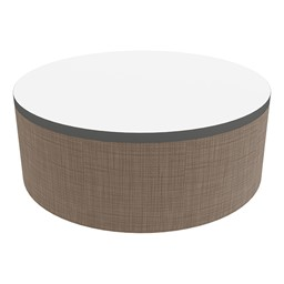 """Shapes Series II Soft Seating Tabletop - Large Round (12"""" H) - Brown Smooth Grain"""