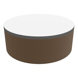 """Shapes Series II Soft Seating Tabletop - Large Round (12"""" H) - Chocolate Smooth Grain"""