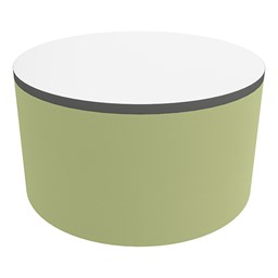 """Shapes Series II Soft Seating Tabletop - Large Round (18"""" H) - Fern Green Smooth Grain"""