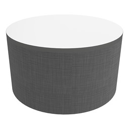 """Shapes Series II Soft Seating Tabletop - Large Round (18"""" H) - Gray Crosshatch"""