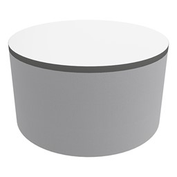 """Shapes Series II Soft Seating Tabletop - Large Round (18"""" H) - Light Gray Crosshatch"""