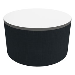 """Shapes Series II Soft Seating Tabletop - Large Round (18"""" H) - Navy Crosshatch"""