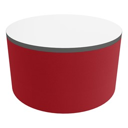 """Shapes Series II Soft Seating Tabletop - Large Round (18"""" H) - Red Smooth Grain"""