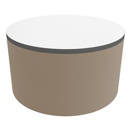 """Shapes Series II Soft Seating Tabletop - Large Round (18"""" H) - Taupe Smooth Grain"""