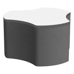 "Shapes Series II Soft Seating Whiteboard Tabletop - Cog (18"" High) - Black Smooth Grain"