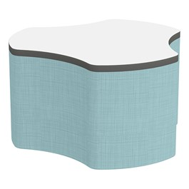 """Shapes Series II Soft Seating Whiteboard Tabletop - Cog (18\"""" High) - Blue Crosshatch"""