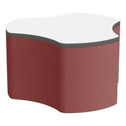 "Shapes Series II Soft Seating Whiteboard Tabletop - Cog (18"" High) - Burgundy Smooth Grain"