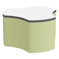 "Shapes Series II Soft Seating Whiteboard Tabletop - Cog (18"" High) - Fern Green Smooth Grain"