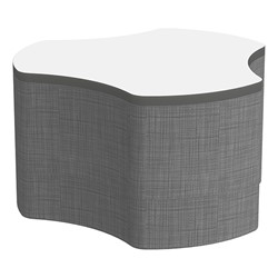 "Shapes Series II Soft Seating Whiteboard Tabletop - Cog (18"" High) - Gray Crosshatch"