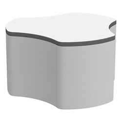 "Shapes Series II Soft Seating Whiteboard Tabletop - Cog (18"" High) - Light Gray Smooth Grain"