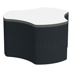 "Shapes Series II Soft Seating Whiteboard Tabletop - Cog (18"" High) - Navy Crosshatch"