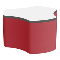 "Shapes Series II Soft Seating Whiteboard Tabletop - Cog (18"" High) - Red Smooth Grain"