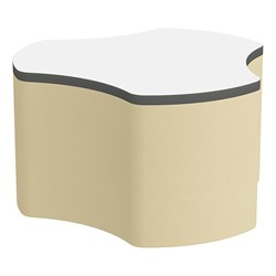 "Shapes Series II Soft Seating Whiteboard Tabletop - Cog (18"" High) - Sand Smooth Grain"