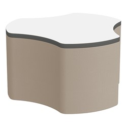 "Shapes Series II Soft Seating Whiteboard Tabletop - Cog (18"" High) - Taupe Smooth Grain"