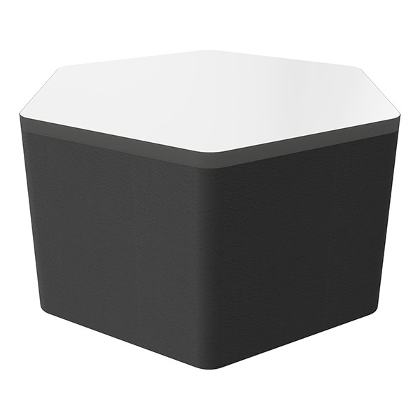 """Shapes Series II Soft Seating Whiteboard Tabletop - Hex (18"""" High) - Black Smooth Grain"""